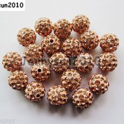 10Pcs-Czech-Crystal-Rhinestones-Pave-Clay-Half-Drilled-Disco-Round-Ball-Beads-371017953193-f69d