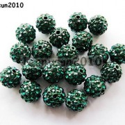 10Pcs-Quality-Czech-Crystal-Rhinestones-Pave-Clay-Round-Disco-Ball-Spacer-Beads-281214667880-0b6f