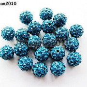 10Pcs-Quality-Czech-Crystal-Rhinestones-Pave-Clay-Round-Disco-Ball-Spacer-Beads-281214667880-14a9