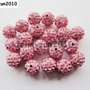 10Pcs-Quality-Czech-Crystal-Rhinestones-Pave-Clay-Round-Disco-Ball-Spacer-Beads-281214667880-23ec