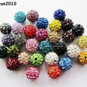 10Pcs-Quality-Czech-Crystal-Rhinestones-Pave-Clay-Round-Disco-Ball-Spacer-Beads-281214667880-5b89