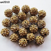 10Pcs-Quality-Czech-Crystal-Rhinestones-Pave-Clay-Round-Disco-Ball-Spacer-Beads-281214667880-76d8