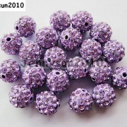 10Pcs-Quality-Czech-Crystal-Rhinestones-Pave-Clay-Round-Disco-Ball-Spacer-Beads-281214667880-7a6d
