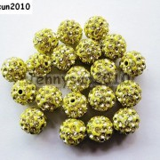 10Pcs-Quality-Czech-Crystal-Rhinestones-Pave-Clay-Round-Disco-Ball-Spacer-Beads-281214667880-7d4c