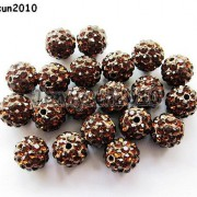10Pcs-Quality-Czech-Crystal-Rhinestones-Pave-Clay-Round-Disco-Ball-Spacer-Beads-281214667880-822d