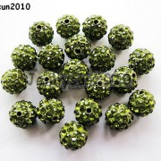 10Pcs-Quality-Czech-Crystal-Rhinestones-Pave-Clay-Round-Disco-Ball-Spacer-Beads-281214667880-96e3