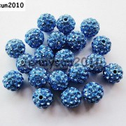10Pcs-Quality-Czech-Crystal-Rhinestones-Pave-Clay-Round-Disco-Ball-Spacer-Beads-281214667880-9f25