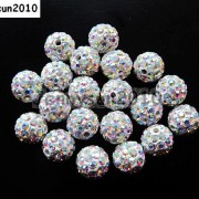 10Pcs-Quality-Czech-Crystal-Rhinestones-Pave-Clay-Round-Disco-Ball-Spacer-Beads-281214667880-acbe