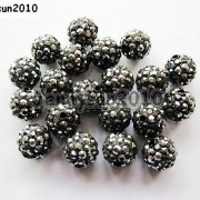 10Pcs-Quality-Czech-Crystal-Rhinestones-Pave-Clay-Round-Disco-Ball-Spacer-Beads-281214667880-b2d4