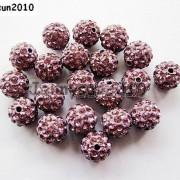 10Pcs-Quality-Czech-Crystal-Rhinestones-Pave-Clay-Round-Disco-Ball-Spacer-Beads-281214667880-e33e