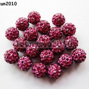 10Pcs-Quality-Czech-Crystal-Rhinestones-Pave-Clay-Round-Disco-Ball-Spacer-Beads-281214667880-eaf1
