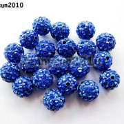 10Pcs-Quality-Czech-Crystal-Rhinestones-Pave-Clay-Round-Disco-Ball-Spacer-Beads-281214667880-f49b