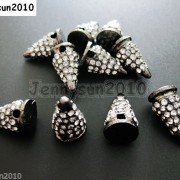 10Pcs-Rhinestones-Pave-Hip-Hop-Solid-Metal-Spike-Bracelet-Connector-Charm-Beads-261124838149-a065