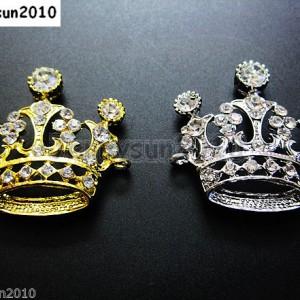 10Pcs-Side-Ways-Crystal-Rhinestones-Crown-Bracelet-Connector-Charm-Beads-Pick-281109305524