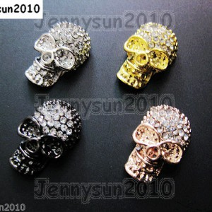 10Pcs-Side-Ways-Crystal-Rhinestones-Long-Skull-Bracelet-Connector-Charm-Beads-261217257017