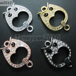 10Pcs-Side-Ways-Crystal-Rhinestones-Open-Owl-Bracelet-Connector-Charm-Beads-370858301003