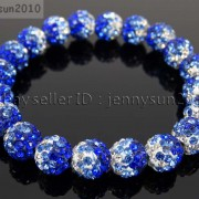 10mm-Czech-Crystal-Rhinestones-Pave-Clay-Round-Disco-Beads-Stretchy-Bracelet-281878300150-00ac