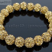 10mm-Czech-Crystal-Rhinestones-Pave-Clay-Round-Disco-Beads-Stretchy-Bracelet-281878300150-02b9