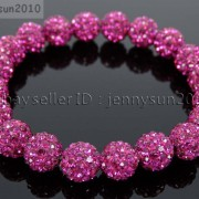 10mm-Czech-Crystal-Rhinestones-Pave-Clay-Round-Disco-Beads-Stretchy-Bracelet-281878300150-0a80