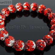 10mm-Czech-Crystal-Rhinestones-Pave-Clay-Round-Disco-Beads-Stretchy-Bracelet-281878300150-0b0b