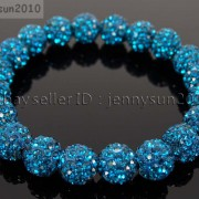 10mm-Czech-Crystal-Rhinestones-Pave-Clay-Round-Disco-Beads-Stretchy-Bracelet-281878300150-2c68