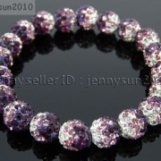 10mm-Czech-Crystal-Rhinestones-Pave-Clay-Round-Disco-Beads-Stretchy-Bracelet-281878300150-2fc3