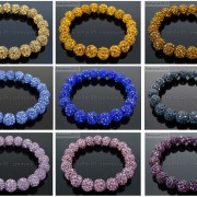 10mm-Czech-Crystal-Rhinestones-Pave-Clay-Round-Disco-Beads-Stretchy-Bracelet-281878300150-3