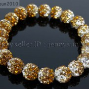 10mm-Czech-Crystal-Rhinestones-Pave-Clay-Round-Disco-Beads-Stretchy-Bracelet-281878300150-316b