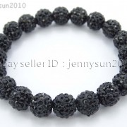 10mm-Czech-Crystal-Rhinestones-Pave-Clay-Round-Disco-Beads-Stretchy-Bracelet-281878300150-4568