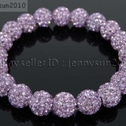 10mm-Czech-Crystal-Rhinestones-Pave-Clay-Round-Disco-Beads-Stretchy-Bracelet-281878300150-49b7