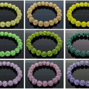 10mm-Czech-Crystal-Rhinestones-Pave-Clay-Round-Disco-Beads-Stretchy-Bracelet-281878300150-5