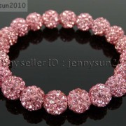 10mm-Czech-Crystal-Rhinestones-Pave-Clay-Round-Disco-Beads-Stretchy-Bracelet-281878300150-573e