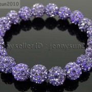 10mm-Czech-Crystal-Rhinestones-Pave-Clay-Round-Disco-Beads-Stretchy-Bracelet-281878300150-59ff
