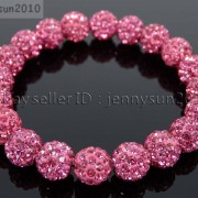 10mm-Czech-Crystal-Rhinestones-Pave-Clay-Round-Disco-Beads-Stretchy-Bracelet-281878300150-6022
