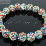 10mm-Czech-Crystal-Rhinestones-Pave-Clay-Round-Disco-Beads-Stretchy-Bracelet-281878300150-6452