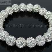 10mm-Czech-Crystal-Rhinestones-Pave-Clay-Round-Disco-Beads-Stretchy-Bracelet-281878300150-65da