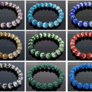 10mm-Czech-Crystal-Rhinestones-Pave-Clay-Round-Disco-Beads-Stretchy-Bracelet-281878300150-7