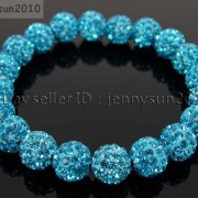 10mm-Czech-Crystal-Rhinestones-Pave-Clay-Round-Disco-Beads-Stretchy-Bracelet-281878300150-77e0