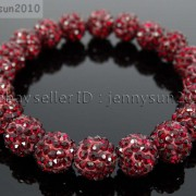 10mm-Czech-Crystal-Rhinestones-Pave-Clay-Round-Disco-Beads-Stretchy-Bracelet-281878300150-827e