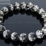 10mm-Czech-Crystal-Rhinestones-Pave-Clay-Round-Disco-Beads-Stretchy-Bracelet-281878300150-85e6