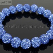 10mm-Czech-Crystal-Rhinestones-Pave-Clay-Round-Disco-Beads-Stretchy-Bracelet-281878300150-8ffa