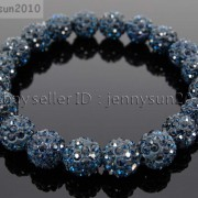 10mm-Czech-Crystal-Rhinestones-Pave-Clay-Round-Disco-Beads-Stretchy-Bracelet-281878300150-92a9