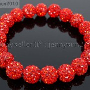10mm-Czech-Crystal-Rhinestones-Pave-Clay-Round-Disco-Beads-Stretchy-Bracelet-281878300150-9764