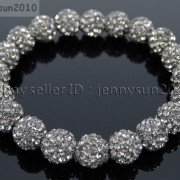 10mm-Czech-Crystal-Rhinestones-Pave-Clay-Round-Disco-Beads-Stretchy-Bracelet-281878300150-9f9f