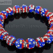 10mm-Czech-Crystal-Rhinestones-Pave-Clay-Round-Disco-Beads-Stretchy-Bracelet-281878300150-ac6b