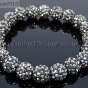 10mm-Czech-Crystal-Rhinestones-Pave-Clay-Round-Disco-Beads-Stretchy-Bracelet-281878300150-acbb
