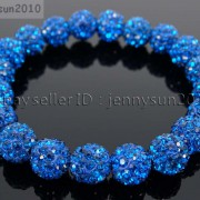 10mm-Czech-Crystal-Rhinestones-Pave-Clay-Round-Disco-Beads-Stretchy-Bracelet-281878300150-af5b