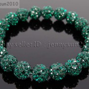 10mm-Czech-Crystal-Rhinestones-Pave-Clay-Round-Disco-Beads-Stretchy-Bracelet-281878300150-b5c6
