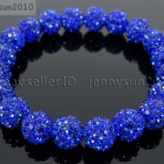 10mm-Czech-Crystal-Rhinestones-Pave-Clay-Round-Disco-Beads-Stretchy-Bracelet-281878300150-b768