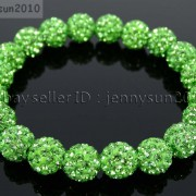 10mm-Czech-Crystal-Rhinestones-Pave-Clay-Round-Disco-Beads-Stretchy-Bracelet-281878300150-d83b